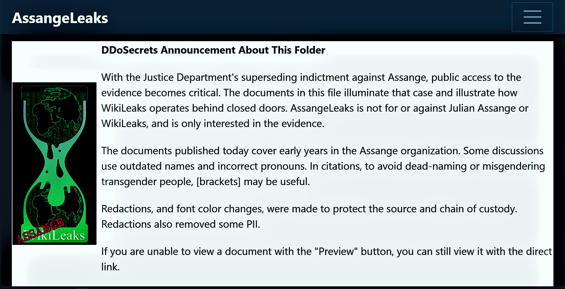 Assange Leaks WikiLeaks Q Plus News