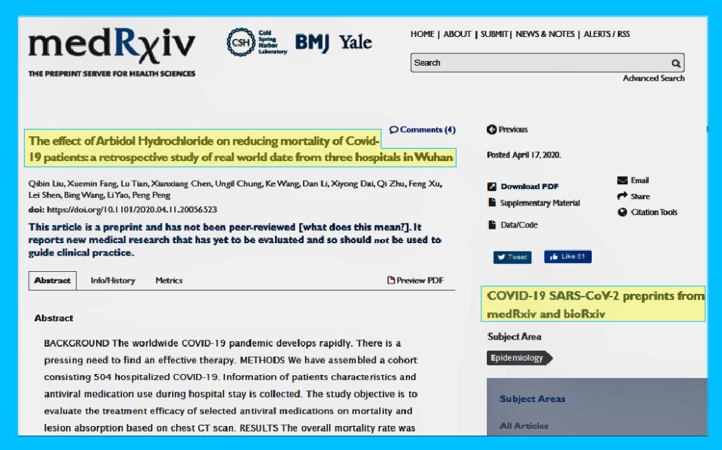 Hydroxychloride HCQ Arbidol Hydrochloride Tamiflu Q Plus News