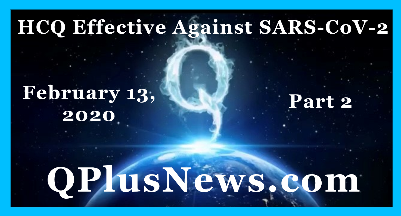 #HCQ #QPlusNews #SARSCoV2 #Q