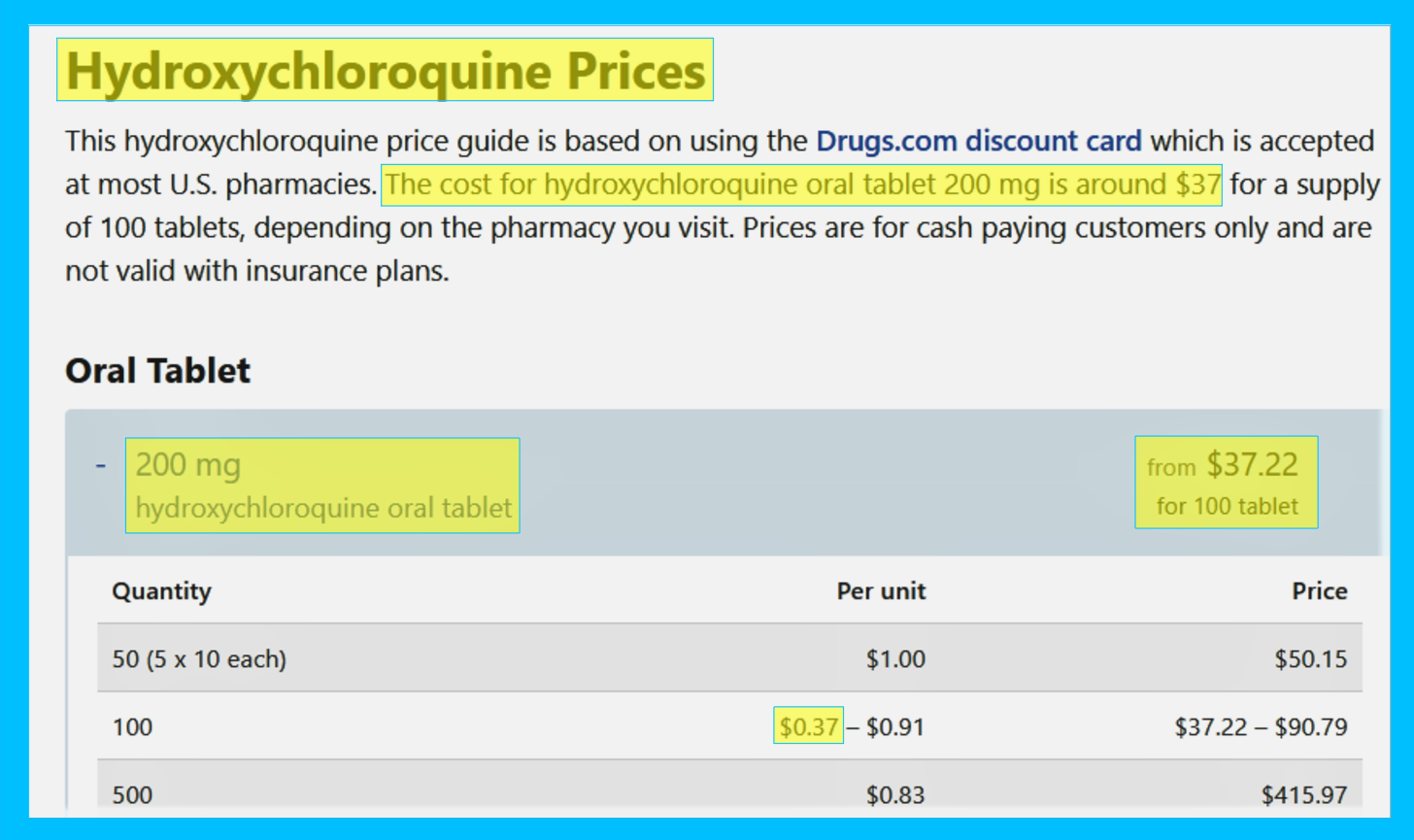 Hydroxychloroquine Cures Cancer