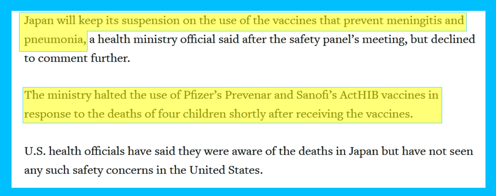 qplusnews, qplus news, Sudden Infant Death Syndrome caused by Vaccinations