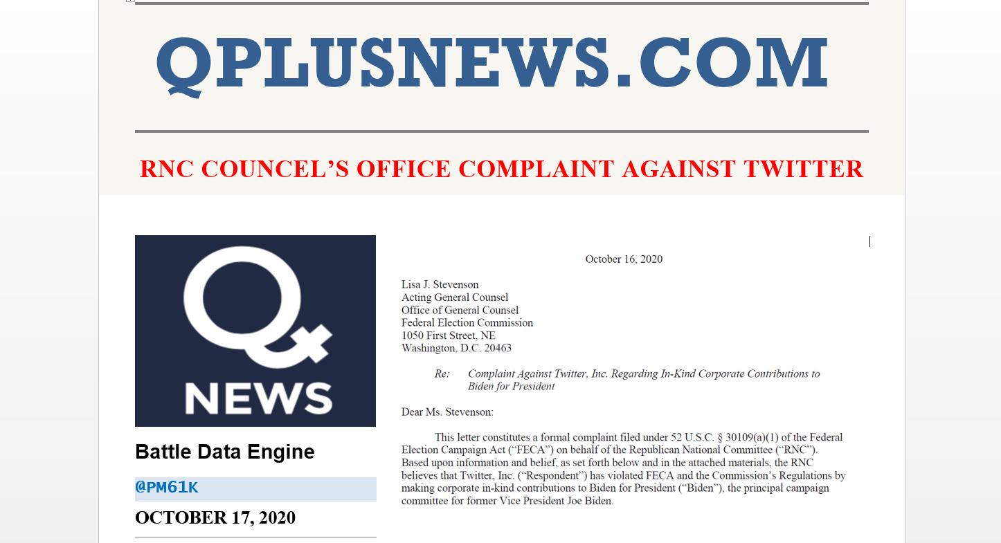 QPLusNews RNC Complaint Twitter